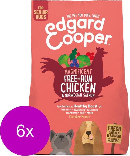 Edgard & Cooper Verse scharrelkip & Noorse zalm Brok - Voor senior honden - Hondenvoer - 6 x 700g