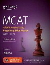 Boek cover MCAT Critical Analysis and Reasoning Skills Review 2020-2021 van Kaplan Test Prep