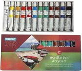 Toppoint  Acrylverf mat 12 x 12ml