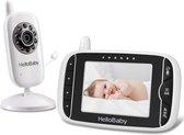 HelloBaby HB32 Babyfoon met camera - Video babyphone - Groot LCD display - Nachtzicht - Terugspreekfunctie - Temperatuurcontrole - Slaapliedjes - Zoomfunctie