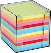 Folia memokubus 9,5x9,5x9,5 cm - Houder incl. gekleurde memoblaadjes