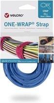 Velcro One-Wrap klittenband kabelbinders 200 x 12mm / blauw (25 stuks)