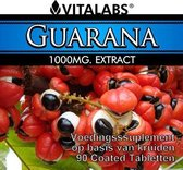 VitaTabs Guarana Extract 1000 mg  - Vetverbrander - 90 tabletten - Voedingssupplementen