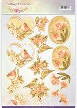 3D Knipvel - Jeanine's Art - Vintage Bloemen - Verbleekt Vintage