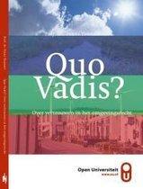 Quo Vadis? Over vertrouwen in het omgevingsrecht