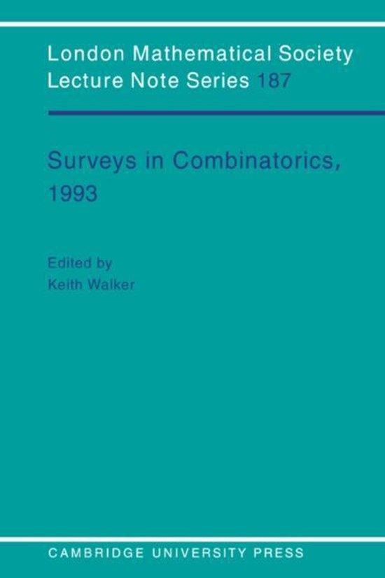Boek cover Surveys in Combinatorics, 1993 van N. J. Hitchin (Paperback)