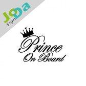 Prince on board sticker | Baby on board sticker (Wit)