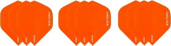 3 sets (9 stuks) Super Sterke Oranje Poly XS100 - dart flights - darts flights