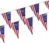 Vlaggenlijn/vlaggetjes USA Amerika