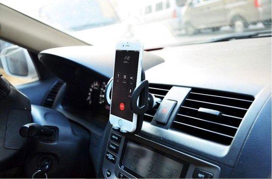 DisQounts Universele Telefoonhouder - Autohouder - Auto gadget - Smartphone houder - gemakkelijk handsfree bellen! Zwart