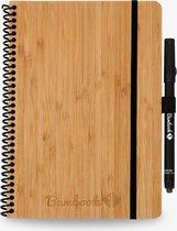 Bambook Hardcover A5 formaat - Blanco & Lijn - Bamboe - met stift