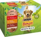 Bonzo Maaltijdzakjes Adult - Hondenvoer Diverse Maaltijdzakjes - 48 x 100 g