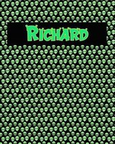 120 Page Handwriting Practice Book with Green Alien Cover Richard
