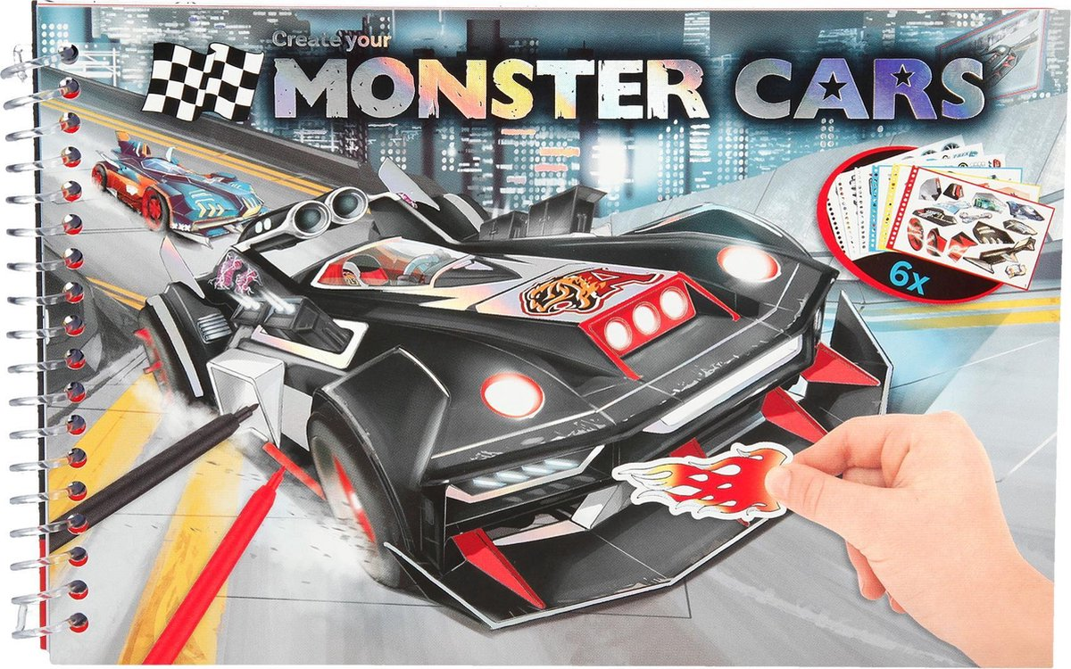 Monster Cars pocket kleurboek - Depesche