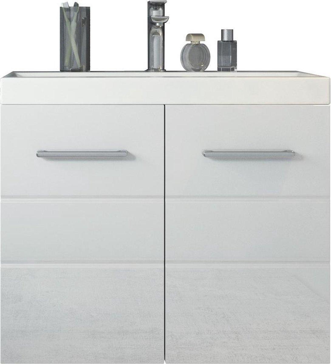 Badplaats - Badkamermeubel Toledo 01 60cm - Wit - Kast met wastafel