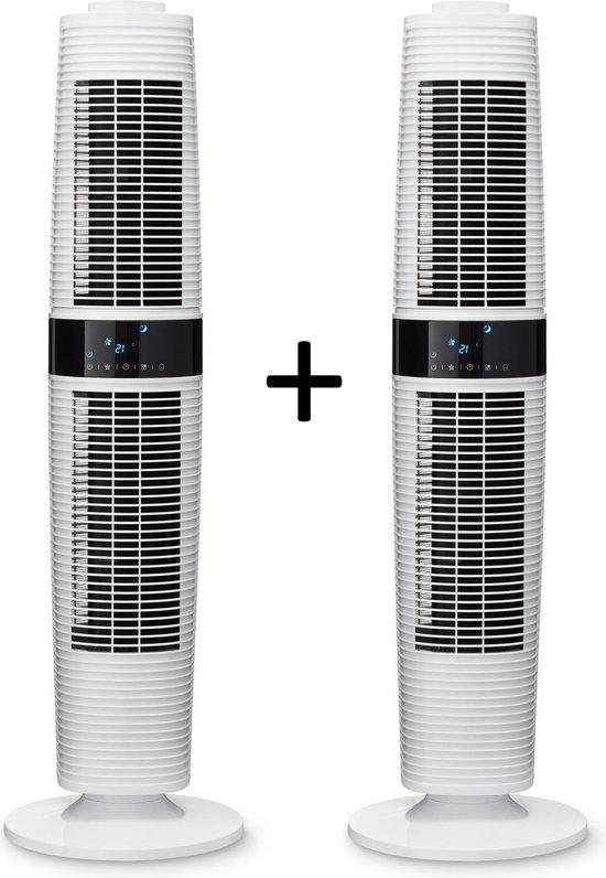 Clean Air Optima® 2 stuks CA-406W - Design Torenventilator - Ventilator met...