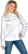 Rouches blouse wit dames 40 (l)