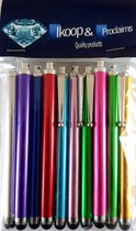 Proclaims 10 Luxe stylus pennen mix kleuren Universeel HTC One/iPhone 5S/iPhone 4S/Samsung Galaxy/Xperia Z1/iPad 2,3,4 Air Mini / Galaxy Tab Zilver