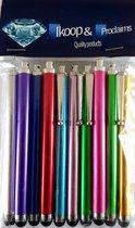 Ikoop & Proclaims © 10 Luxe stylus pennen mix kleuren voor Tablet en Smartphone