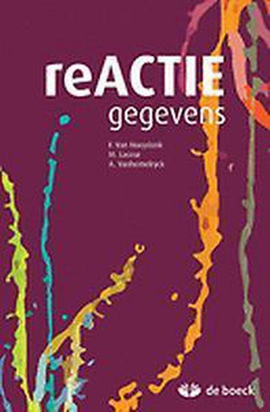 Boek cover Reactie - gegevens van F van Hooydonk (Onbekend)