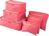 Packing Cubes - 6 stuks - Koffer Organiser - Watermeloen - Je koffer georganiseerd ingepakt