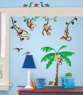 RoomMates Muursticker Monkey Business - Multi