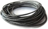 Echte lederen koord kleur gunmetal - Voor het maken van sieraden - Armbanden, kettingen, oorbellen enz..