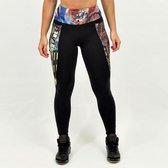 High waist sport legging dames | Graffiti beasts | Inverse | Unieke graffitiprint - 2Esae -  Maat L