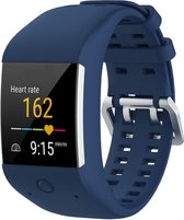 Siliconen Horloge Band Voor Polar M600 - Armband / Polsband / Strap / Sportband - Blauw