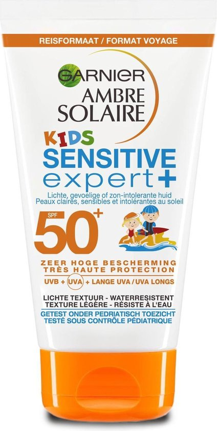 Garnier Ambre Solaire Kids Zonnebrandcrème SPF 50+ - 50 ml - Reisformaat