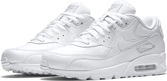 Nike Air Max 90 Leather Sportschoenen - Maat 42.5 - Mannen - wit