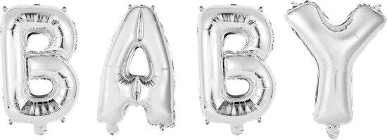 Ballonnen Letter Set Baby Zilver 41cm