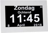 Digitale Klok Kalenderklok met dag, datum en tijd. Nu met touchsceen en HD scherm. seniorenklok dementieklok alzheimerklok