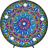 Diamond Painting Decoratieschaal - Mandala - met LED Verlichting - Maak Je Eigen Decoratieschaal