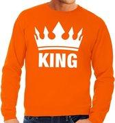 Oranje Koningsdag King sweater / trui heren - Oranje Koningsdag kleding M