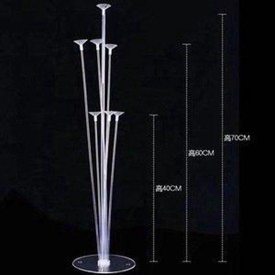 Lampion-Lampionnen LED Ballon XL standaard 7 armig - 70 cm hoog
