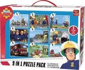 Puzzel 9 in 1 Brandweerman Sam -  Inclusief Handvat