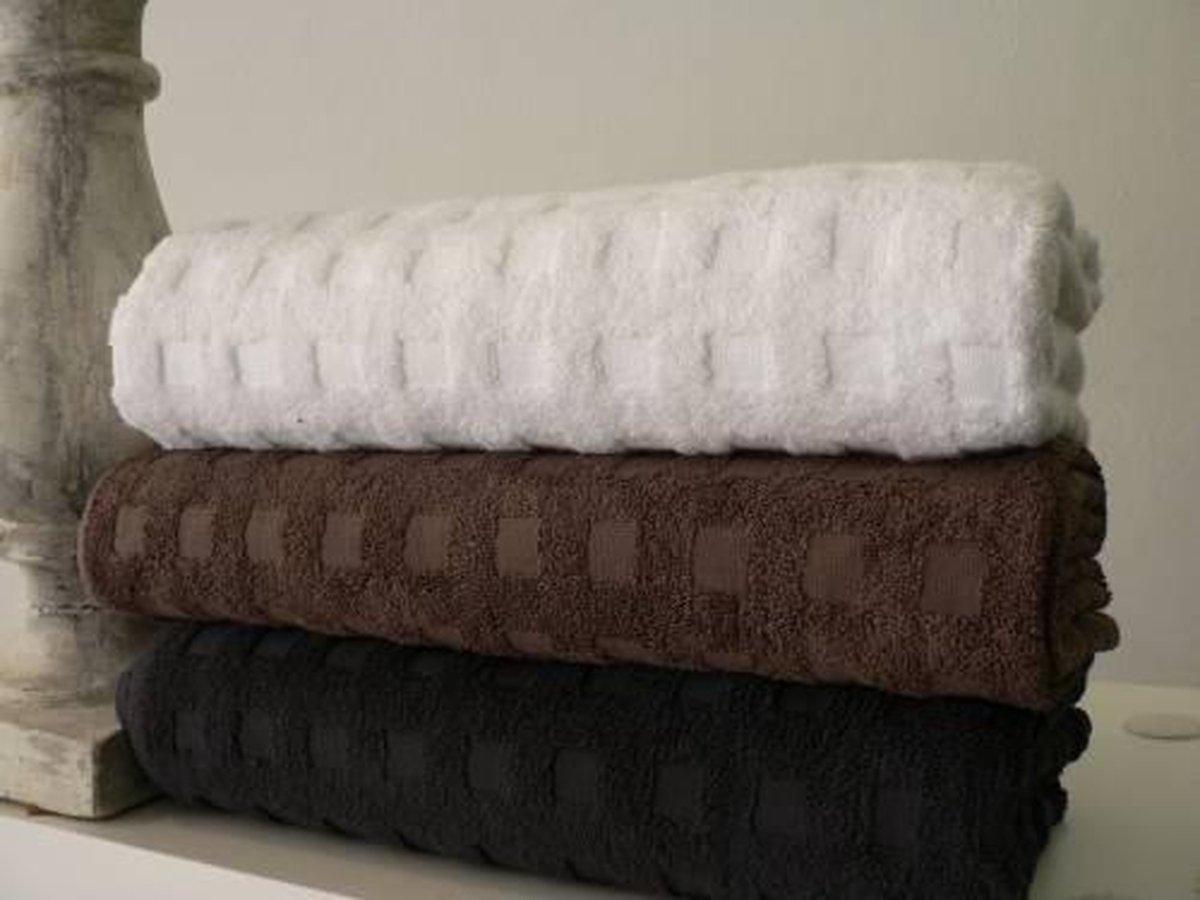 Gastendoekjes - 100% Egyptisch katoen- Oasis Deluxe 600 gr/m2 - 30x50 cm - Espresso - Set van 12 - Cotton Factory