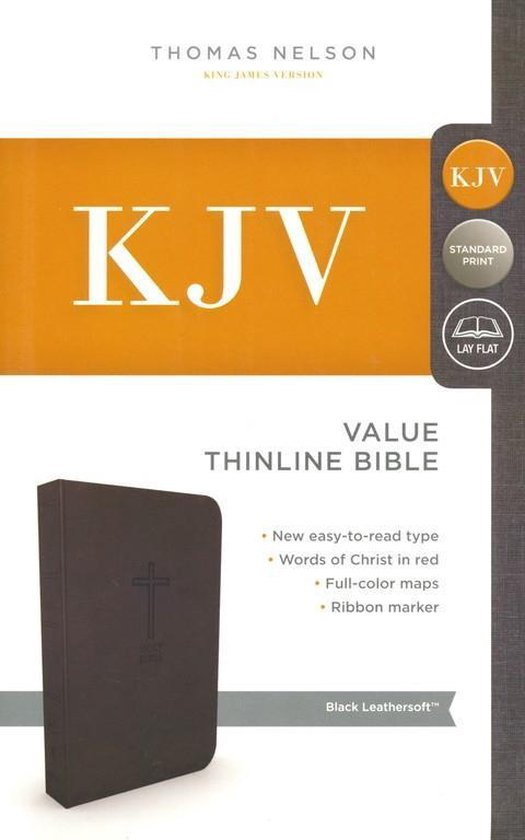 Black leathersoft, KJV thinline bible - Zondervan |