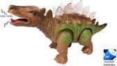 DINOSAURUS speelgoed - STEGOSAURUS - met licht en dino geluid  35CM (incl. batterijen)