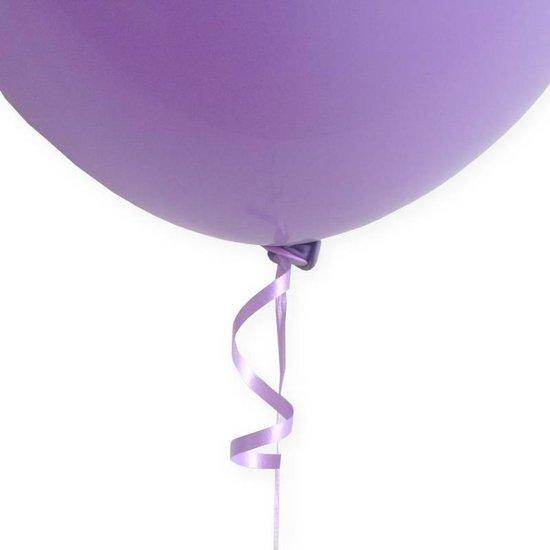 Ballon Snelsluiters Paars met lint 100 stuks