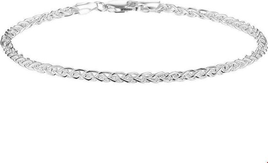 Glams Armband Vossestaart 2,5 mm 19 cm - Zilver