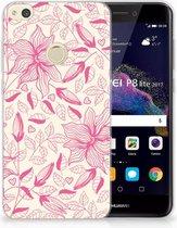 Huawei P8 Lite 2017 Uniek TPU Hoesje Pink Flowers