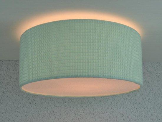 Plafondlamp Babykamer Mint Wafel - Mintgroene Babylamp Land of Kids - Plafonnière Babykamer - Wafel Lamp