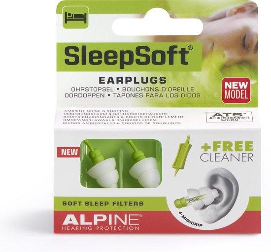 Alpine SleepSoft - Slaap oordoppen - Dempt snurkgeluid - SNR 25 dB - 1 paar