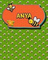 Handwriting Practice 120 Page Honey Bee Book Anya