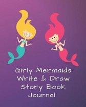Cute Mermaids Blank Story Book Journal