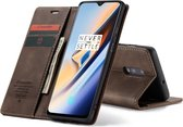 CASEME Wallet Hoesje voor OnePlus 7 - Coffee