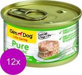 Gimdog Little Darling Pure Delight - Kip&Lam - Hondenvoer - 12 x 85 g