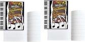 2x A5 muziekschriften met notenbalken lijntjes - educatieve schriften/muziekles schrift